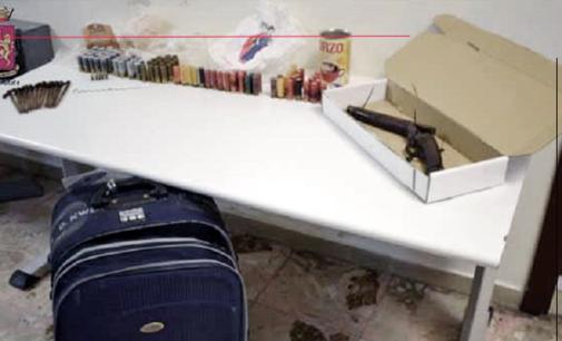 MESSINA – Sequestrati un fucile a canne mozze ed un ingente quantitativo di munizioni. Arrestato 44enne messinese