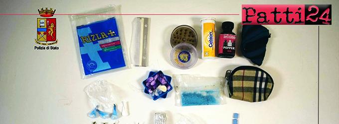 """MESSINA – Droga party. Arrestato l'affittuario di un appartamento e denunciati i sui 23 """"ospiti"""". Sequestrati cocaina, popper, MDMA e marijuana."""