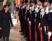 MESSINA – Il Prefetto Francesca Ferrandino saluta l'Arma di Messina