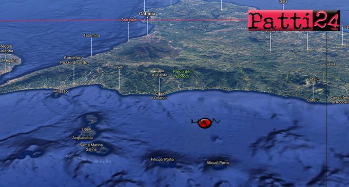 ISOLE EOLIE – Sciame sismico alle Eolie.  L'evento piu' importante alle 17:58 di magnitudo 3.6