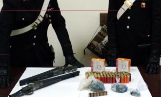 MESSINA – Rinvenuti 2 fucili a canne mozze, 140 cartucce per fucile e 30 per pistola e mezzo chilo di polvere da sparo sotterrati a circa mezzo metro