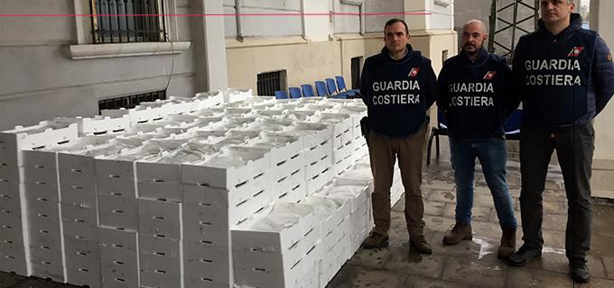 """MESSINA – Sequestrati 1.340 Kg di """"novellame di sardina"""" meglio conosciuta localmente come """"neonata"""""""