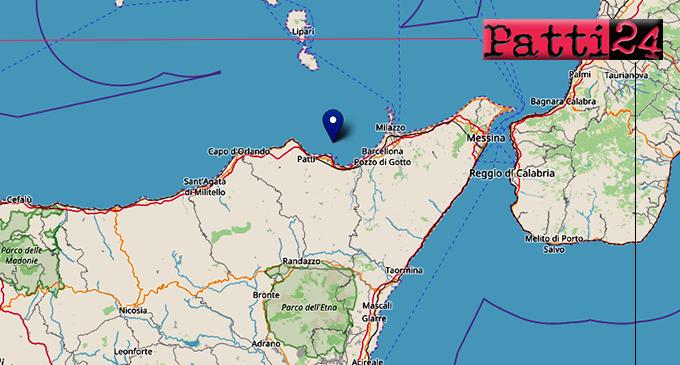 OLIVERI – 2 lievi eventi sismici nella notte di ML 2.2 e 2.3 con epicentro in mare a 7 km da Oliveri hanno preceduto sisma di ML 3.7 in Calabria a 18 Km da Messina