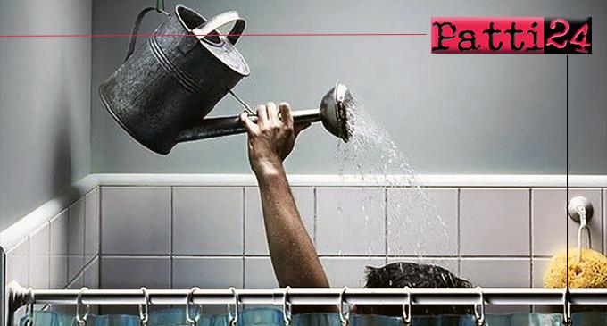 """PATTI – Non passa giorno che almeno una zona """"soffra""""  per la mancanza di acqua."""