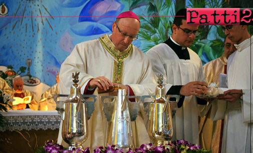 PATTI – Il vescovo mons. Giombanco ha celebrato per la prima volta la Messa Crismale