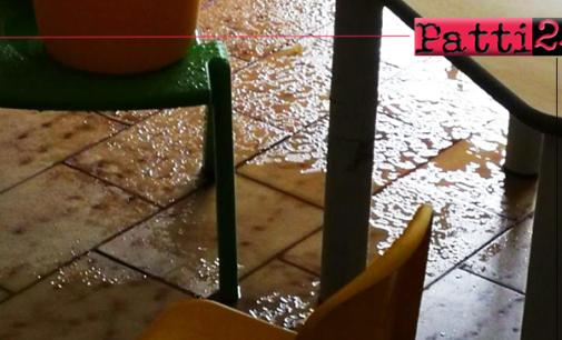 """PATTI – Infiltrazione d'acqua nel plesso """"G. Milici"""". La dirigente Lollo risponde alla ridda di voci scatenatesi dopo l'evento di venerdì"""