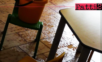 PATTI – Aula allagata e bambini costretti a sgomberare. Lavori di messa in sicurezza erano stati effettuati lo scorso 19 marzo.