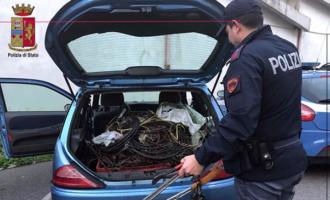 MESSINA – 50 kg di rame nascosti nel bagagliaio, 5 furti ai danni di esercizi commerciali e una compilation di contravvenzioni
