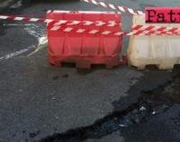 PATTI – Calmo e placido scende il ruscelletto… non è una poesia ma una nuova copiosa perdita d'acqua in Corso Matteotti