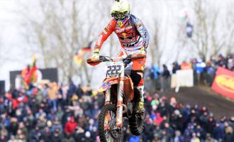 MXGP – In Olanda a Valkenswaard il pattese Tony Cairoli ha ceduto il passo nel finale per il gelo, dopo aver dominato tre quarti di entrambe le manche