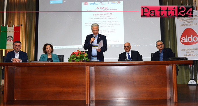 """MILAZZO – """"In…formazione: dalla donazione al trapianto"""", seminario promosso dall'Aido"""