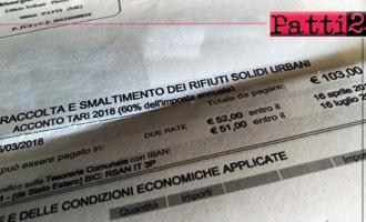 PATTI – Il comune di Patti non è, evidentemente,….Paganini e si…ripete. Avviso pagamento acconto Tari 2018 recapitato in ritardo rispetto alla scadenza