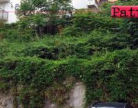 PATTI – Vicolo Immacolata nel centro storico. Erbacce ovunque e fondo stradale dissestato