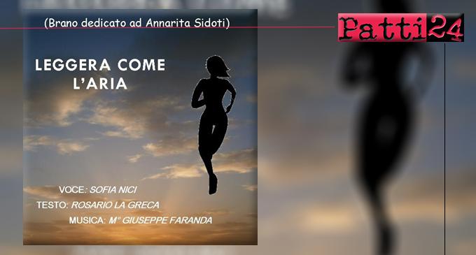 """BROLO – """"Leggera come l'aria"""". Canzone dalle forti e intense emozioni per rendere omaggio ad Annarita Sidoti"""