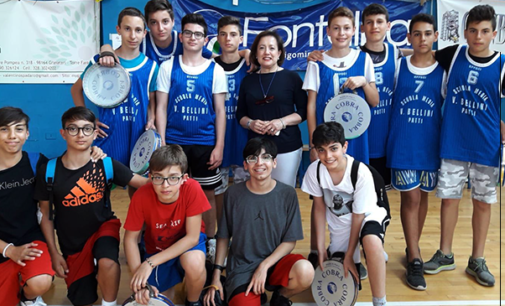 """PATTI – Campionati Studenteschi. 2° posto maschile nella pallatamburello per la """"Bellini"""""""