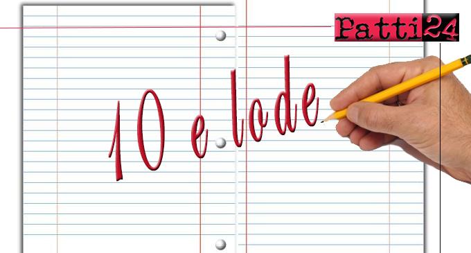 PATTI – Scuola secondaria di primo grado. Esami terminati… c'è chi va in vacanza con 10 e lode