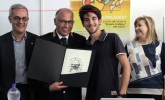 """MILAZZO – """"I giovani e la sicurezza stradale"""". La Polizia Stradale incontra gli studenti dell'Istituto d'Arte di Milazzo."""