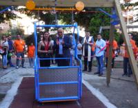 MILAZZO – Inaugurata l'altalena per disabili a villa Nastasi