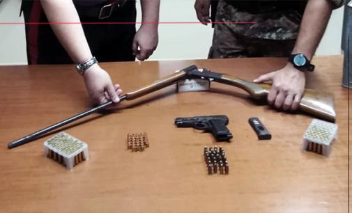 SANTA LUCIA DEL MELA – Rinvenute armi mai denunciate e munizioni. Arrestato 66enne