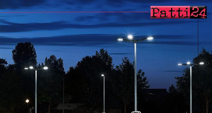 """PATTI – Finanziato il progetto di efficientamento degli impianti di pubblica illuminazione """"Smart City Patti"""" per un importo di €. 1.053.278,85."""