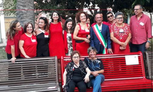 MILAZZO – Inaugurata la panchina rossa contro la violenza di genere