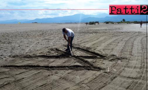 """PATTI – Scritta sulla sabbia una bestemmia. Marinello sempre più """"terra di nessuno"""""""