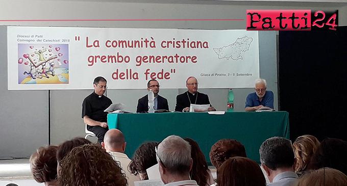 """PIRAINO – Convegno dei catechisti della diocesi di Patti. Il tema è stato """"La comunità cristiana grembo che genera alla fede"""""""