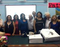 """PATTI – Pina Pizzo, dirigente dell'IC """"Lombardo Radice"""" va in pensione. Tutti hanno voluto tributarle i """"meritati onori"""""""