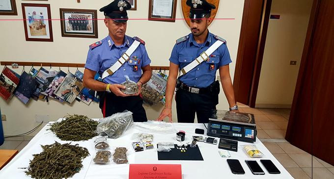GAGGI – Detenzione ai fini di spaccio di sostanze stupefacenti. 17enne arrestato in flagranza di reato