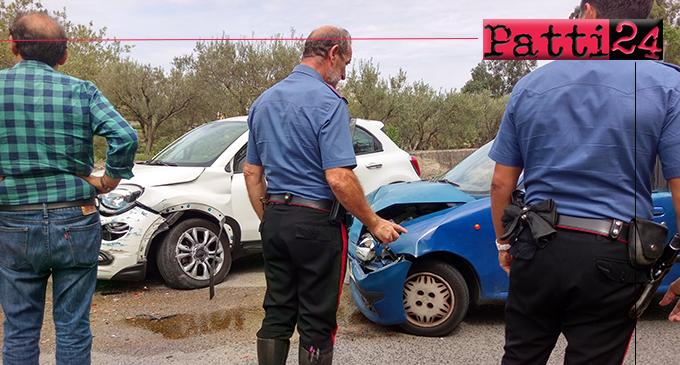 LIBRIZZI – Transito bloccato sulla SP Patti- San Piero Patti per un incidente tra due auto