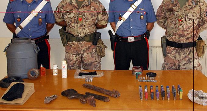 BARCELLONA P.G. – 2 arresti per furto di energia elettrica e rinvenimento di un fucile a canne mozze e munizioni