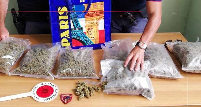 MESSINA – Sequestrati più di due chili di marijuana e arrestato il detentore