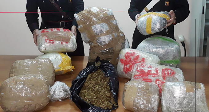 MESSINA – 28 kg di marijuana in casa. 20enne condotta presso la sezione femminile del Carcere di Gazzi