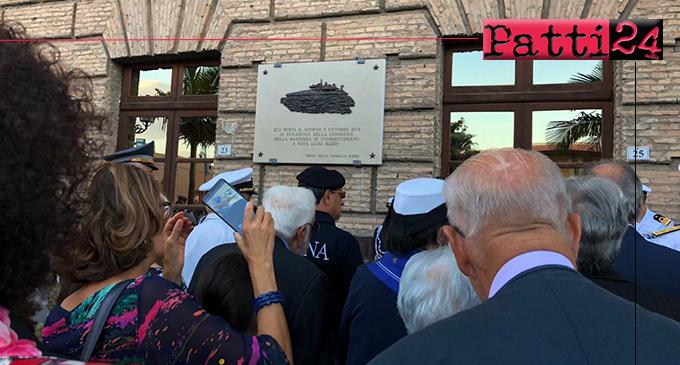 """MILAZZO – Cerimonia di """"svelatura"""" della stele celebrativa collocata all'esterno del Municipio"""