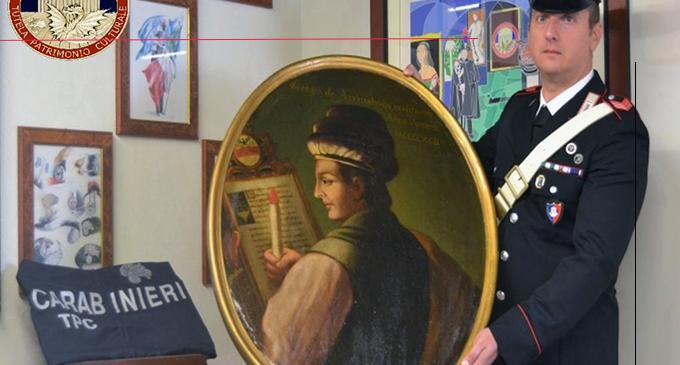 MESSINA – Recuperato un dipinto del '700, rubato 30 anni fa da un palazzo storico nel trevigiano. Denunciato 43enne messinese