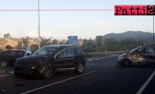 PATTI – Incidente stradale all'incrocio che dalla zona Playa immette sulla tangenziale che porta ai caselli dell'A20