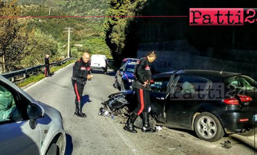 SAN PIERO PATTI – Incidente stradale lungo la SP 122. Coinvolte due autovetture