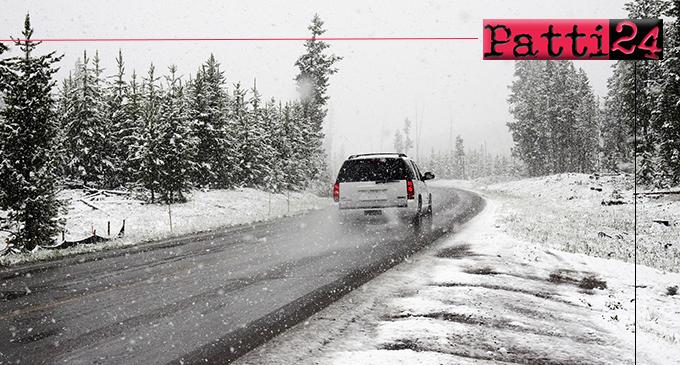 MESSINA – Prime nevicate nei Comuni montani della provincia. Dislocati mezzi per spazzare la neve e spargere il sale