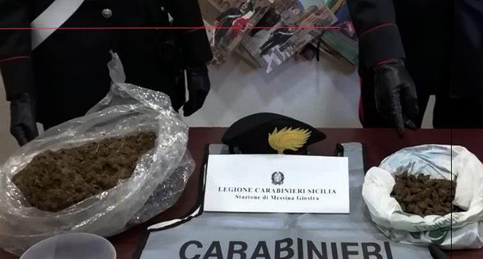 MESSINA – Sorpresi nei pressi di un casolare abbandonato con quasi 2 chili di droga. Due arresti