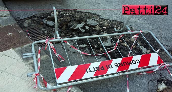 PATTI – Transenne disseminate a destra e a manca. L'ordinario puo' attendere… priorità alle opere di grosso spessore !