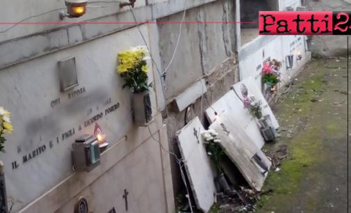 """PATTI – Il cimitero della frazione Scala versa in uno stato deplorevole. Senza rispetto per chi non """"c'è più""""."""