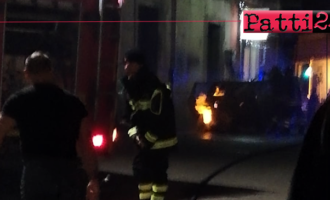 PATTI – Auto in fiamme. Momenti di paura