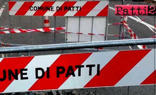 PATTI – Riaperta via Pertini, iniziati lavori in via Mancuso, guasto idrico in Piazza XXV Aprile.