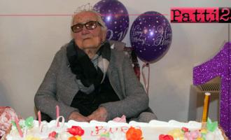 SAN PIERO PATTI – Spegne 100 candeline la bisnonna Catena Di Dio.