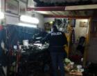 MESSINA – Sequestrate attrezzature in officina abusiva. 7.401,00 euro di sanzioni per le irregolarità riscontrate.