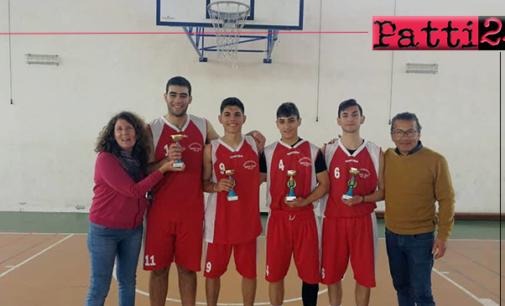 """PATTI – L'IIS """"Borghese Faranda"""" ha conquistato il titolo provinciale nel basket maschile 3 contro 3 dei Campionati Sportivi Studenteschi."""