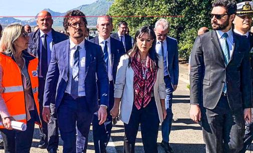 MESSINA – Il Ministro alle Infrastrutture Danilo Toninelli in visita a Messina.