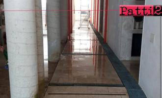 """PATTI – La """"zona nuova"""" del cimitero realizzata da pochi anni, fa già…acqua."""