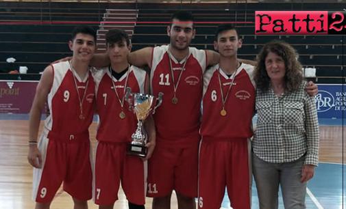 """PATTI – L'IIS """"Borghese Faranda"""" ha conquistato il titolo regionale di basket 3 contro 3 dei Giochi Sportivi Studenteschi."""