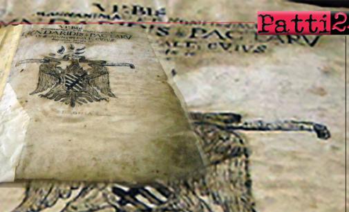 PATTI – Restauro conservativo del Libro Rosso. Un manoscritto che contiene documenti e carteggi dei secoli XVI e XVII